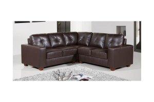 Paloma Brown Leather Corner Sofa