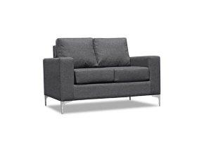 Virginia Grey Fabric 2 Seater Sofa