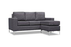 Virginia Grey Fabric Corner Sofa