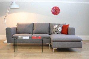 Laguna Grey Fabric Corner Sofa
