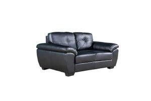 Milton black leather 2 seaterr
