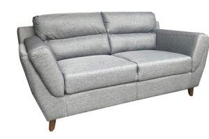 sandy 2 seater grey fabric sofa - 34 view