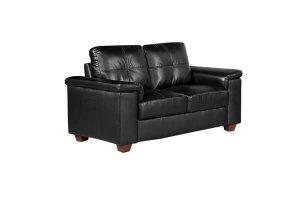 Belmont Black Leather 2 Seater Sofa