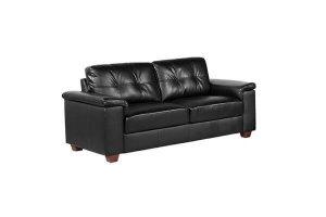 Belmont Black Leather 3 Seater Sofa