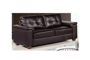 Belmont Brown Leather 2 Seater Sofa