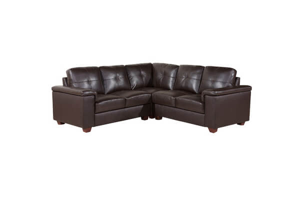 Belmont Brown Leather Corner Sofa | Furnish That Room