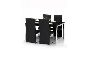 Metro Dining Set with 4 Chairs
