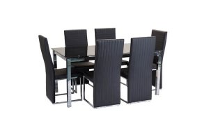 Metro Dining Set with 6 Chairs