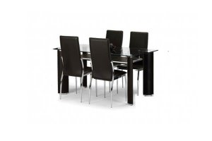New York Dining Set with 4 Chairs