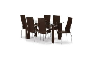 New York Dining Set with 6 Chairs