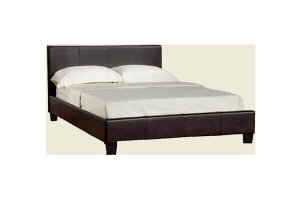 Ohio Black Leather Double Bed Frame