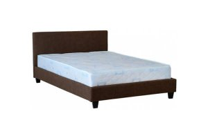 Ohio Brown Leather Double Bed Frame