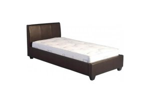 Ohio Brown Leather Single Bed Frame