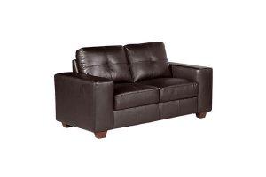 Paloma Brown Leather 2 Seater Sofa