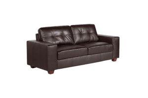 Paloma Brown Leather 3 Seater Sofa