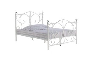 Romano White Metal Kingsize Bed Frame
