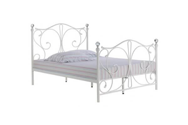 Romano White Kingsize Metal Bed Frame Furnish That Room