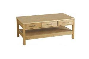 Ashbury Oak 3 Drawer Coffee Table