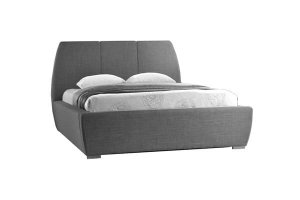Arlow Grey Fabric Double Bed Frame