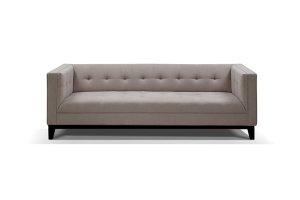 Lincoln Light Grey 3 Seater Sofa