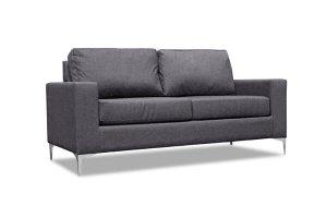 Virginia Grey Fabric 3 Seater Sofa