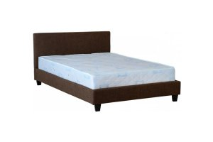 Ohio Brown Leather Small Double Bed Frame