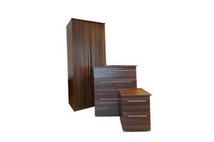 Sandon Walnut 3 Piece Bedroom Set