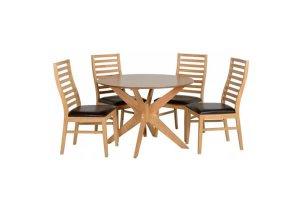 Tampa oak_brown dining set