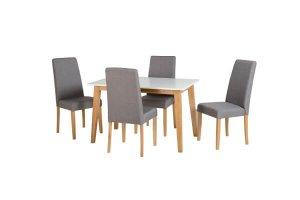 Aspen white oak and grey dining set