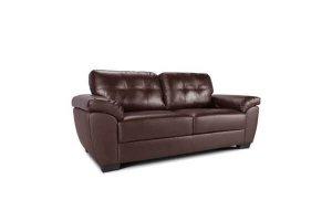 Milton 3 seater brown leather