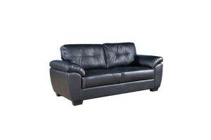 Milton black leather 3 seater copy