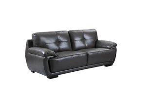 Mirello grey leather 3 seater