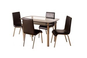 harley black and silver dining table