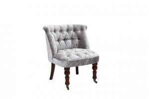 Shelley silver crushed velvet accent chair