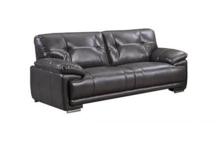 Plaza - 3 Seater Faux Leather - Front