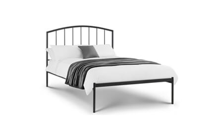 "Double 4ft 6"" Metal Beds"